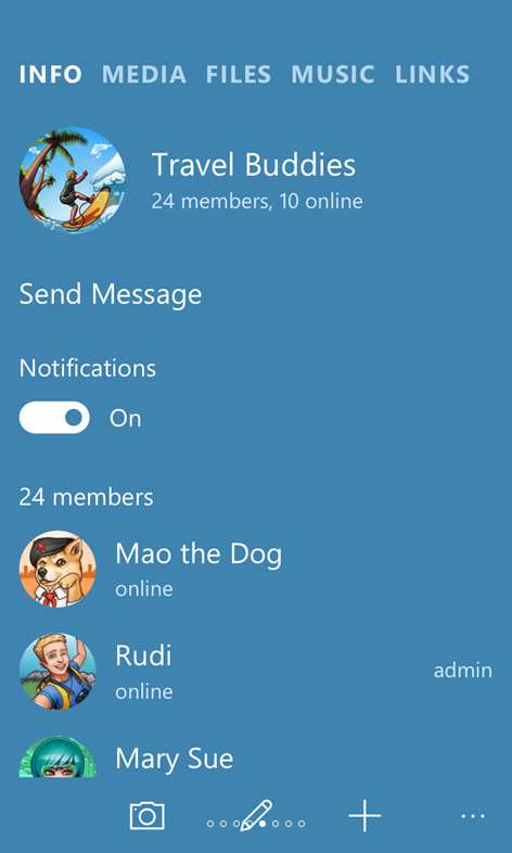 установить telegram на Windows phone