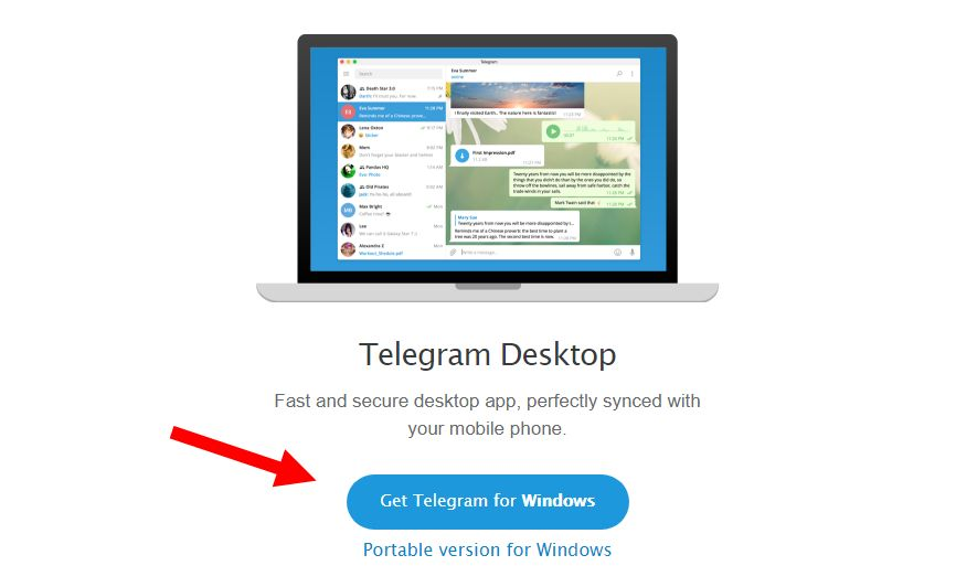 установить telegram для windows 8